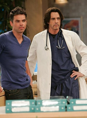 Jason Thompson and Rick Springfield (General Hospital)
