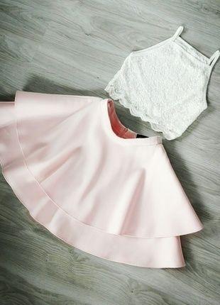 Pudrowa spódnica Mohito