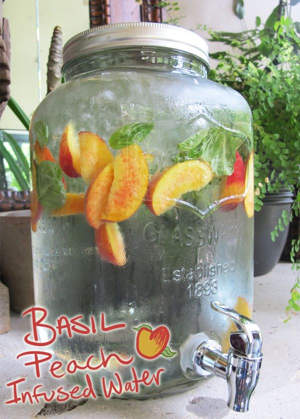 Basil Peach Infused Water | Kingsburg Orchards