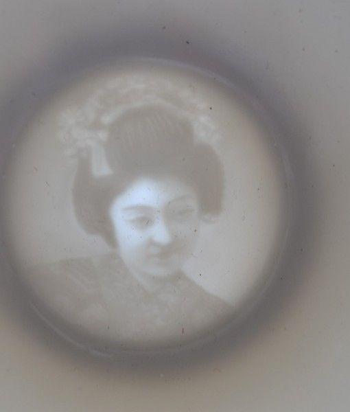 vintage geisha lithophane tea cups