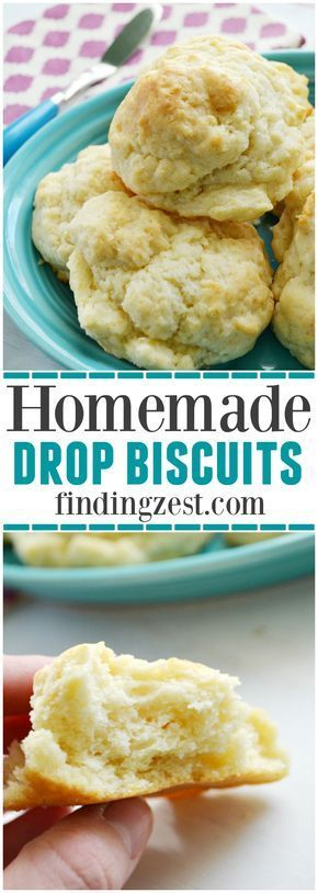 These homemade drop biscuits from scratch can be ready in under 20 minutes from ingredients you already have on hand!