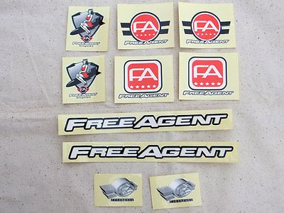 Decals Stickers 106953: Original, Free Agent Complete Bicycle Decal Set For Bmx Bike -> BUY IT NOW ONLY: $69.99 on eBay!