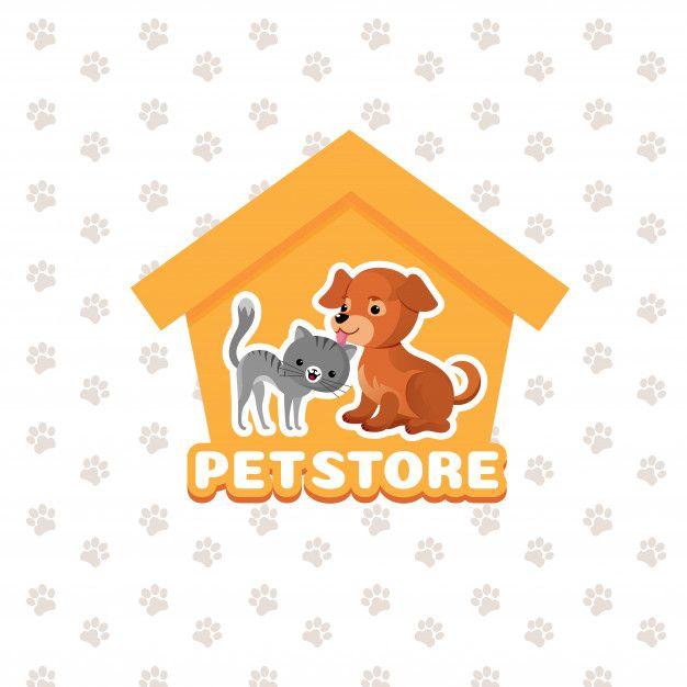 Fundo De Loja De Animais Com Animais De Estimacao Feliz Loja De