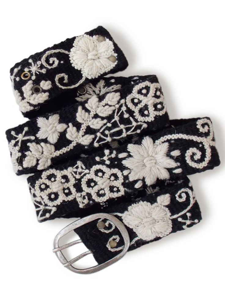 Two-Tone Floral Belt