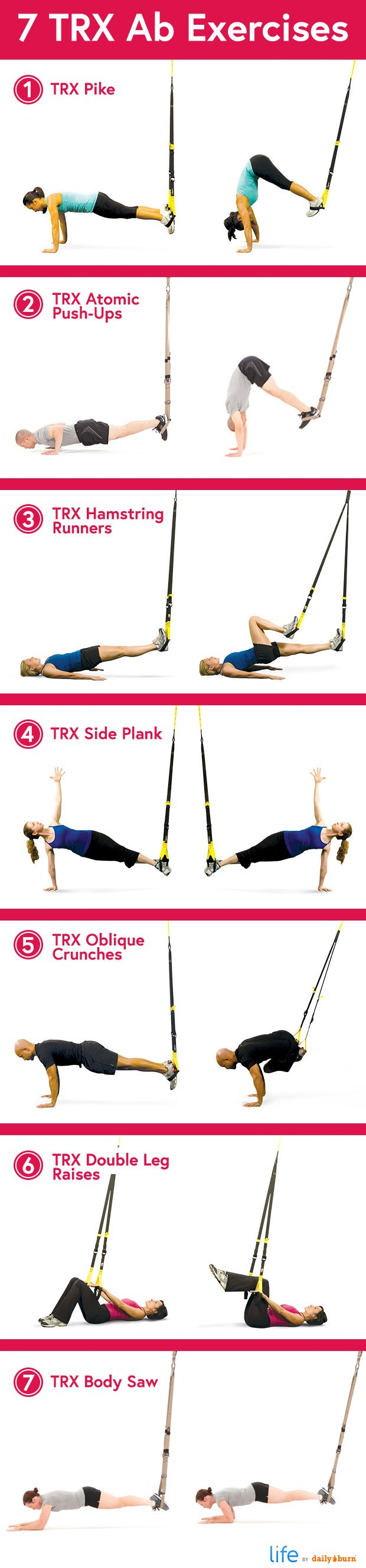 7 TRX Ab Exercises
