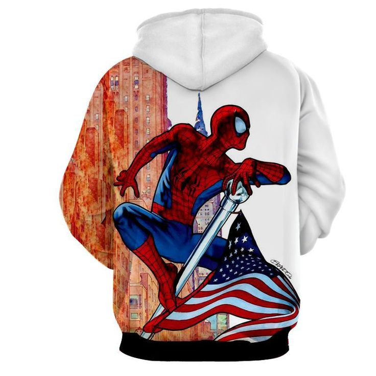 Spiderman Comical 3D Printed Spiderman Hoodie