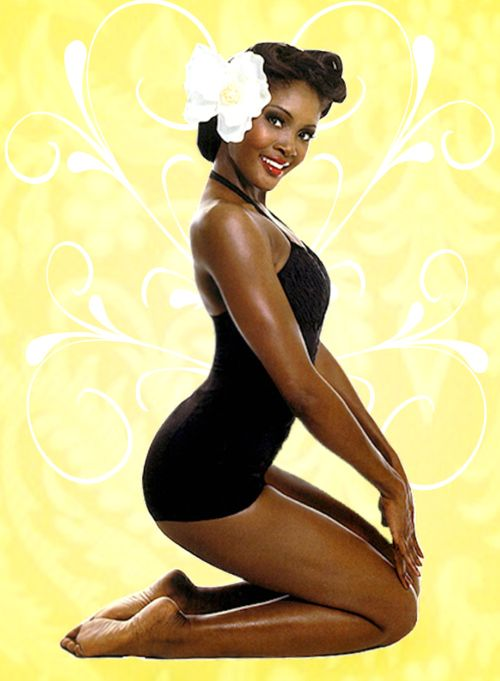 Love it! I've never seen a black pin-up before!