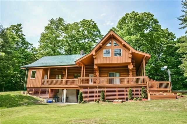 One Of The Finest Log Homes In Durham Region, 3500 Square Foot Log Home Built From Logs Harvested From The Lot
