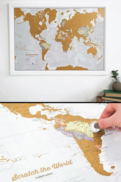 Scratch the World Map. 12 Best College Graduation Gifts for Guys Graduates