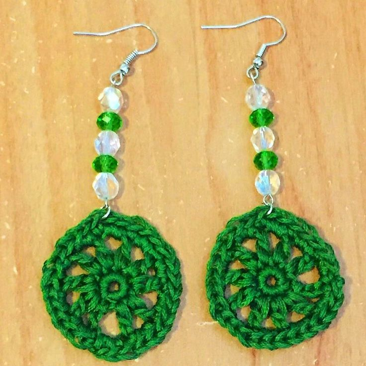 Crochet Circle Earrings - Circle Earrings - Gifts for Her - Gifts for Mom - Christmas Gift Ideas - Drop Earrings - Crochet Jewelry
