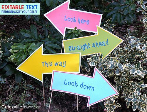 Easter Egg Hunt yard sign   Printable Easter Egg Hunt Decorations Garden Kit PDF With Editable ...