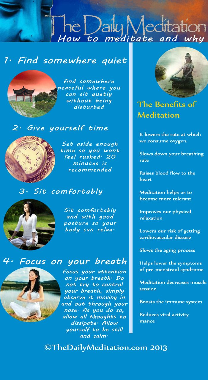 Meditation Infographic: How to meditate and why people do meditate