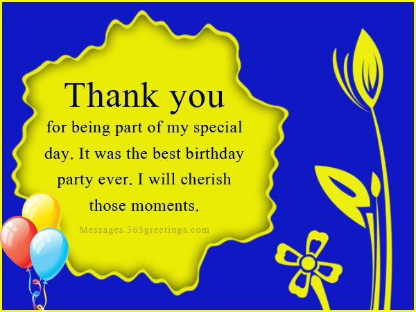Birthday Thank You Messages, Thank You for Birthday Wishes - Messages, Wordings and Gift Ideas