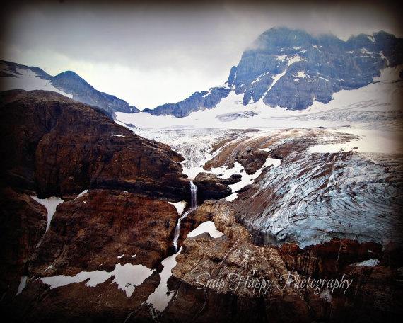 Rocky Mountain Glacier  8x10 Photo  Alberta  Rocky by Snaphappy72, $15.00