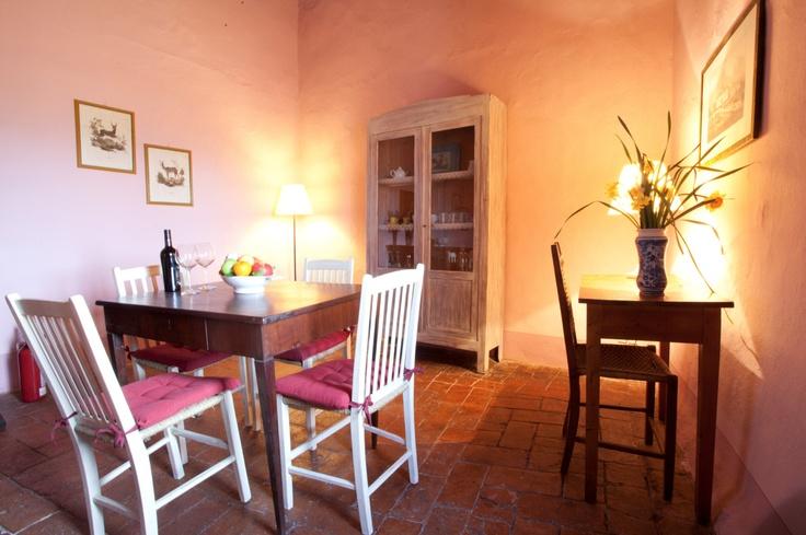 Sala da pranzo di Bartoli, appartamento per 2 persone con splendida terrazza