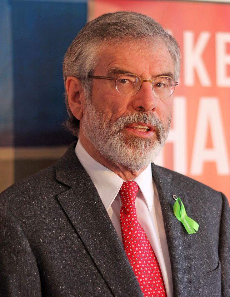 "Gerard ""Gerry"" Adams (Irish: Gearóid Mac Ádhaimh; born 6 October 1948)"