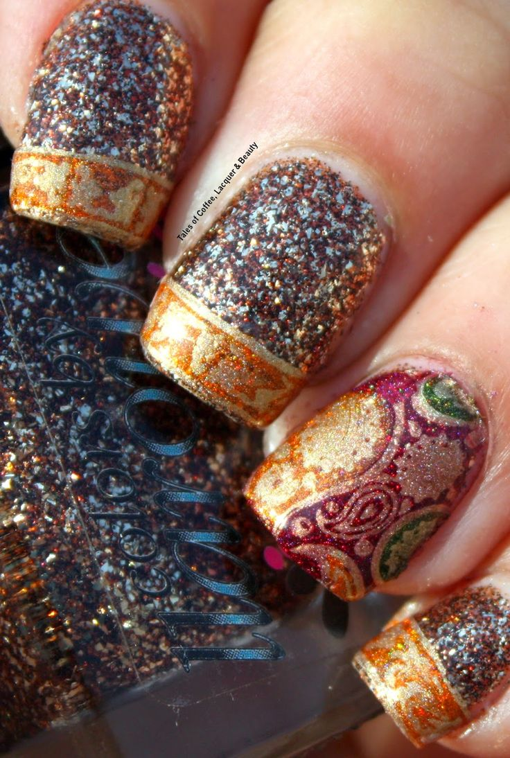 Bollywood Nail Art with Loja BBF, CbL Cabaret and Darling Diva Witchee Collection