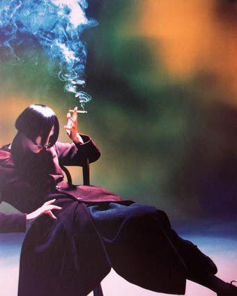 Nick Knight - Yohji Yamamoto - Susie Smoking, 1988