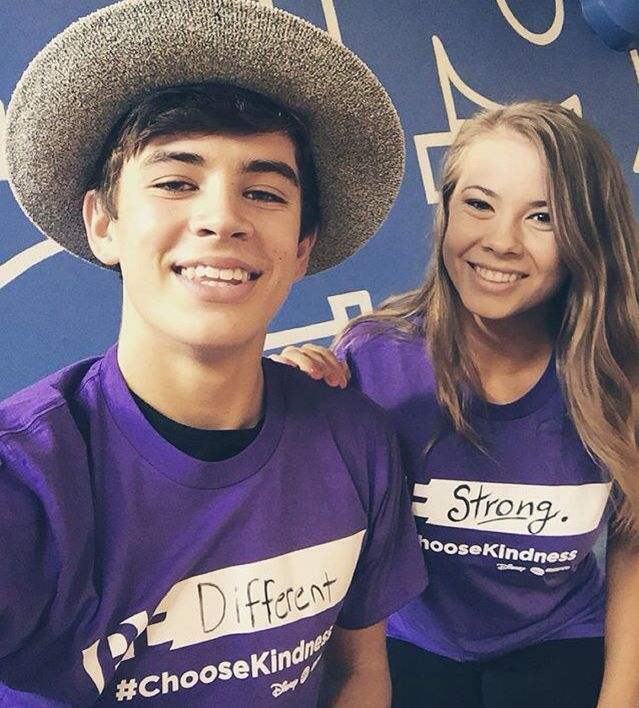 Hayes Grier and Bindi Irwin