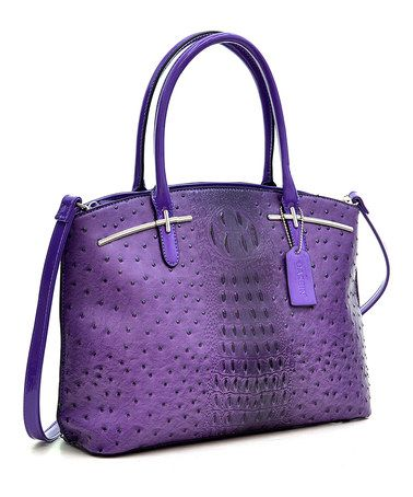 Look what I found on #zulily! Purple Ostrich-Embossed Shlora Tote #zulilyfinds