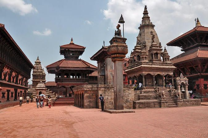 Private Half-Day Bhaktapur Sightseeing with Nagarkot Sunset Tour from Kathmandu 						On this half day tour from Kathmandu, enjoy the city of Bhaktapur and the village of Nagarkot.  Bhaktapur Durbar Square, located 15 km from Kathmandu, is a museum of medieval art and architecture with many examples of sculptures, woodcarvings and colossal pagoda temples consecrated to different gods and goddesses. Nagarkot, a village located 32 km east of Kathmandu, is con...