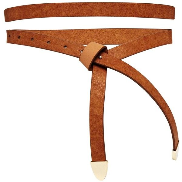 Belt by ASOS Collection Adjustable length and can be worn on your hips or waist Made from a leather look fabric Smooth matte finish Push through fastening Gold…