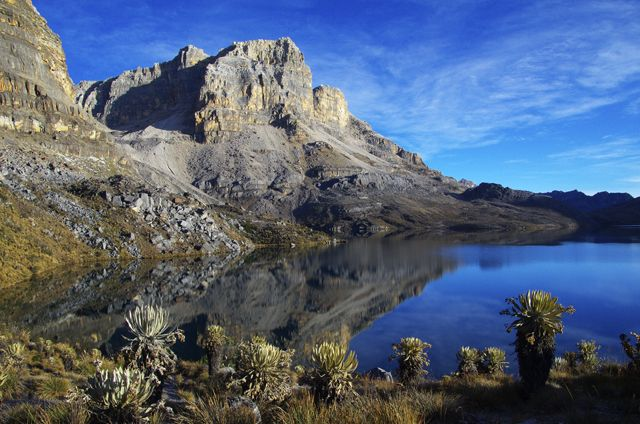 Dazzling blue lake and sky in the Sierra Nevada del Cocuy #Colombia #hiking