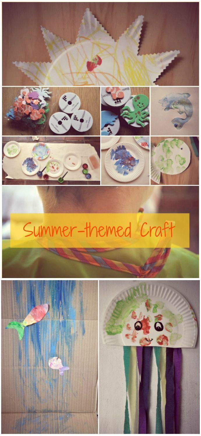 Summer and water themed craft // via lilybettandboy.blogspot.com.au
