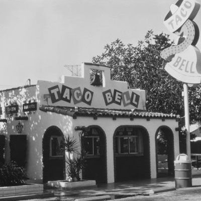 1st Taco Bell,1961.  I wish they still looked like this one.