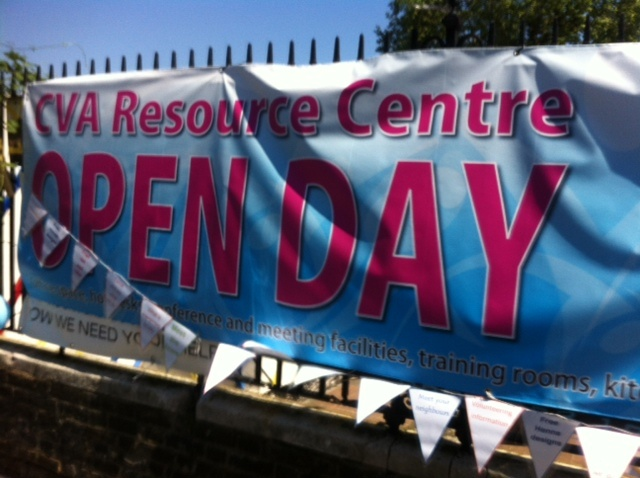 Open day at the CVA centre Croydon recently. Good time to catch up with people interested in volunteering. Good day!