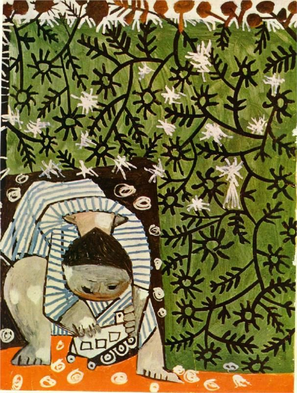 Pablo Picasso, Child Playing in Camomilles, 1953Camomille, Jouant Avec, Arty Stuff, Camomile 1953, Child Plays, Painting, Art Children, Awesome Artists, Pablo Picasso