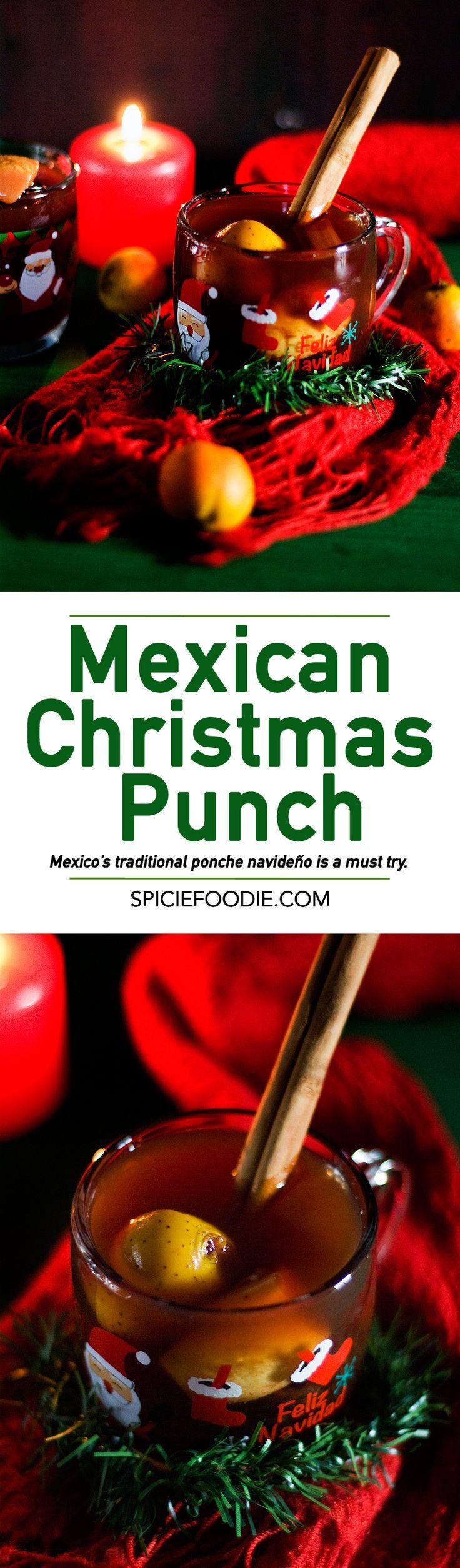 Mexican Christmas Punch or Ponche Navideño  | #vegan #tejocotes #ponche