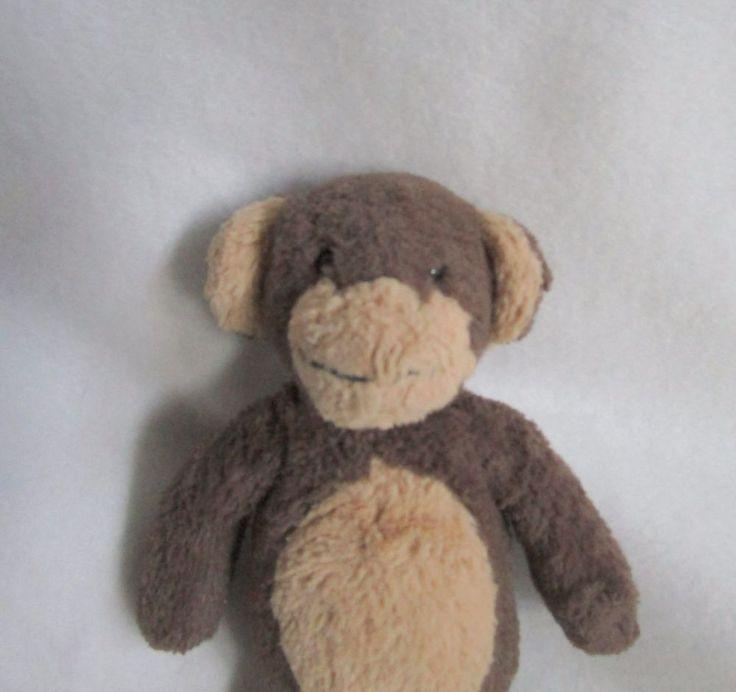 Pottery Barn Kids Tan Brown Monkey Plush Soft Toy Stuffed