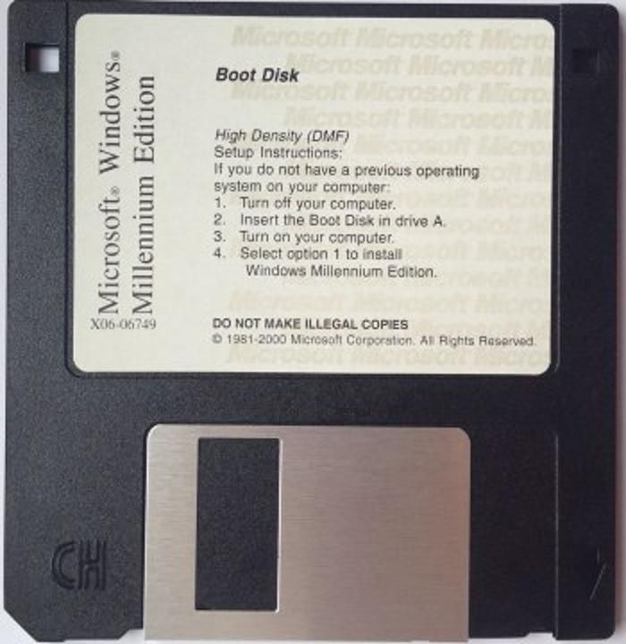 windows ME  boot disk with cd rom drivers