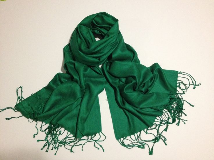These come in all of Carolyn's wedding colors and might be a nice accessory...  green pashmina scarf, green pashmina shawl, fashion scarf, pashmina scarf, pashmina shawl, scarf, shawl. $12.99, via Etsy.