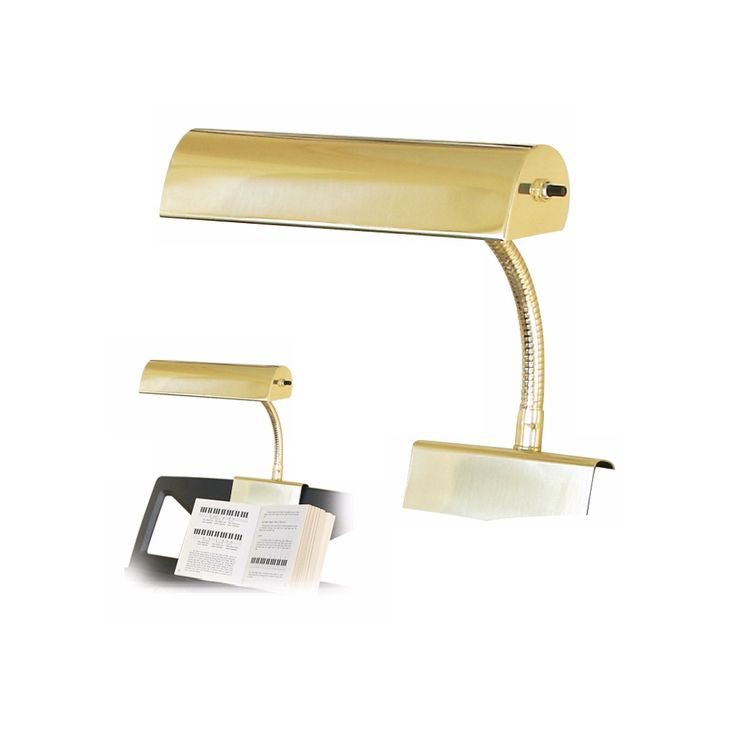 House of Troy Polished Brass Finish Grand Piano Lamp - Style # 00579