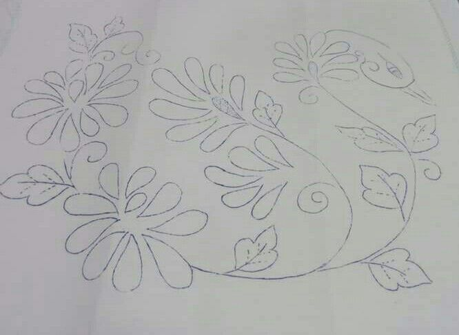 Cisne con crisantemos