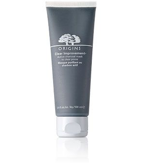 Origins Clear Improvement Charcoal Mask: Pamper your pores with activated charcoal that acts like a magnet to draw out deep-dwelling pore-cloggers while White China Clay absorbs environmental toxins. $16, available at Origins.