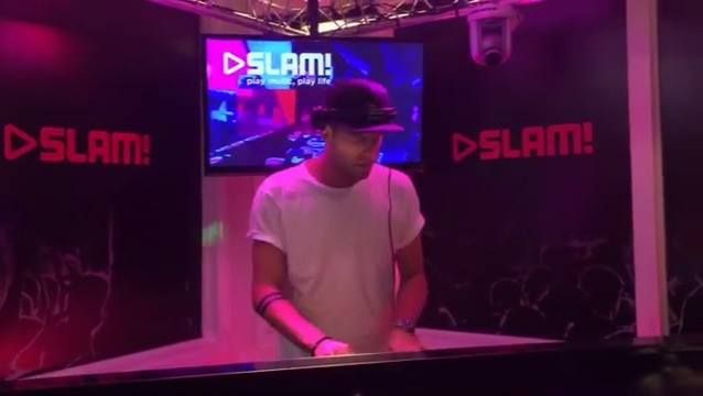 TUJAMO dropping his latest track ft. Inaya Day at Dutch radio station SLAM!