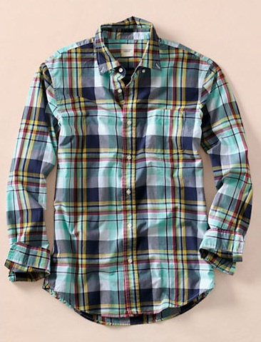 The Dapper Docent - Check it Out: Lands End: Casual Shirts, Men Style Spring Shirts, Plaid Poplin, Men Large, Land End, Poplin Shirts, Men Fashion, Plaid Shirts, Large Plaid