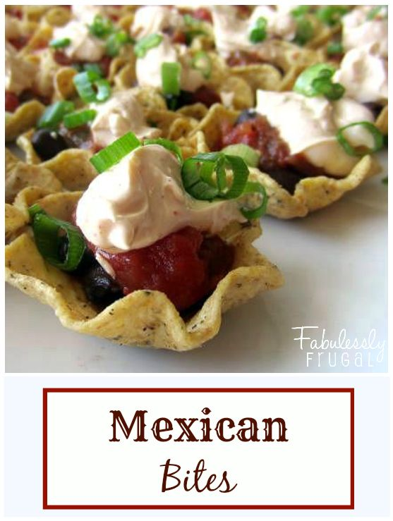 Easy mexican bites recipe black bean salsa cream and for Appetizer recipes easy party appetizers