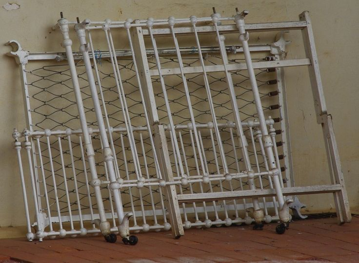 Iron double bedstead from the Main Bedroom, part of the original furniture of the house.