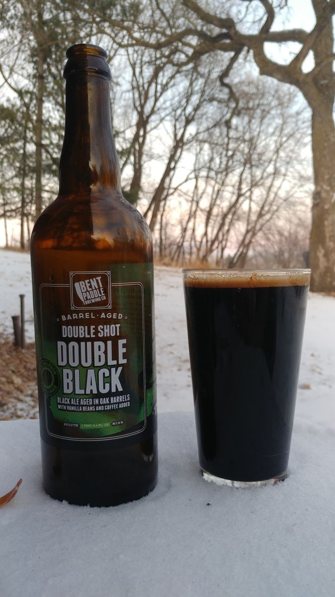 Bent Paddle Brewing Barrel Aged Double Shot Double American Black Ale #Beer #Drinking #BentPaddleBrewing #AmericanBlackAle #Ale #DoubleShot #Coffee #DarkBeer #BarrelAged
