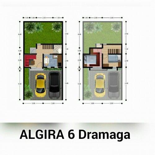denah - Rumah Mewah Harga Terjangkau Lokasi Strategis di Dramaga Bogor