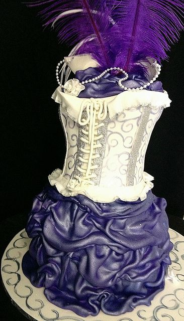 Corset Cake With Shoe And Mask