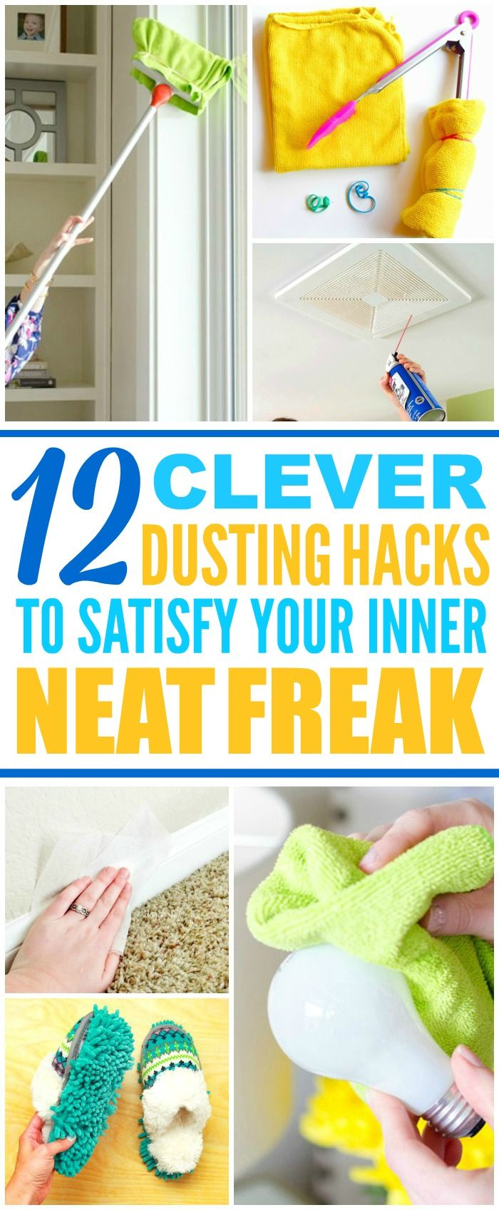 These 10 brilliant and easy dusting hacks are THE BEST! Now I have some GREAT ways to clean my home! These cleaning tips and tricks make cleaning my house so much quicker and easier! Definitely pinning!