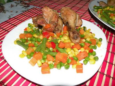 Pui cu legume mexicane la tigaie - Retete Culinare