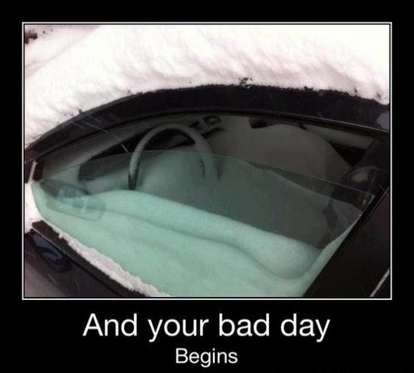 Bad day--good thing we live in VA where we only occasionally get enough snow to do this