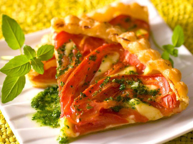 Tarte à la tomate au pistou, facile et pas cher
