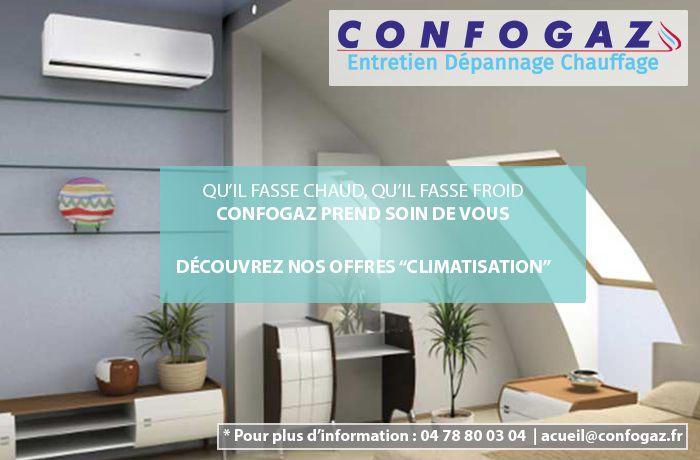 visuel pour la promotion de climatisation pour confogaz